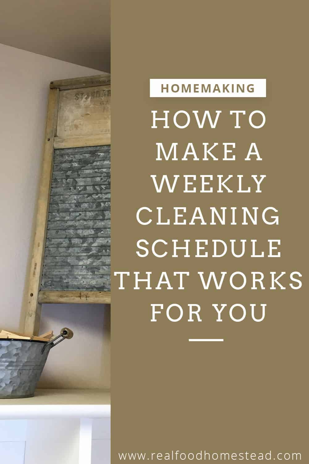 weekly cleaning pin