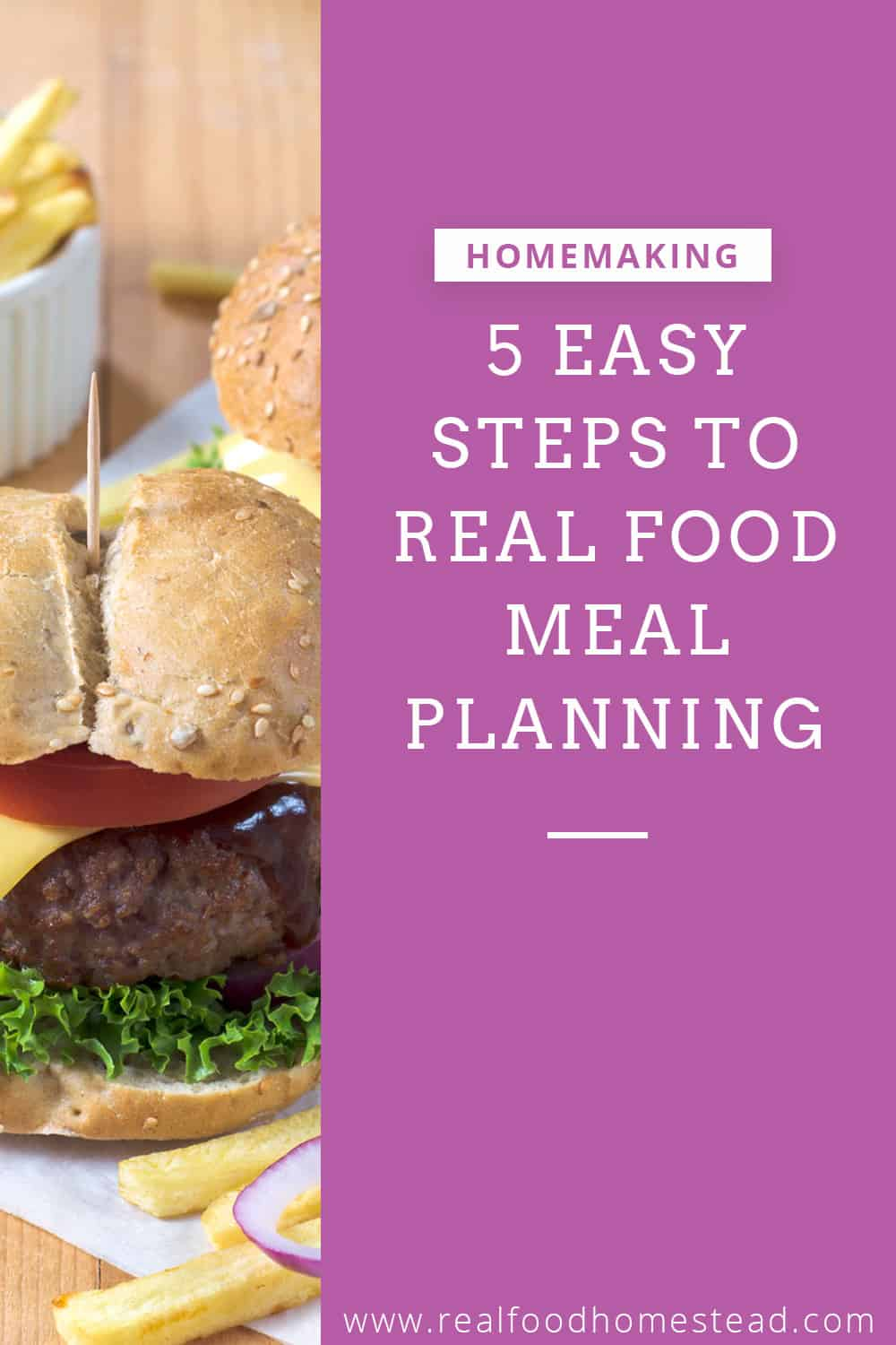 real food meal planning pin