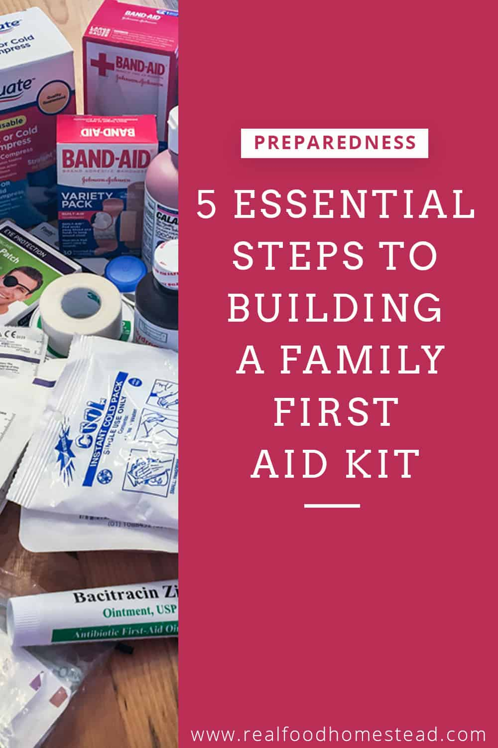 family first aid kit pin