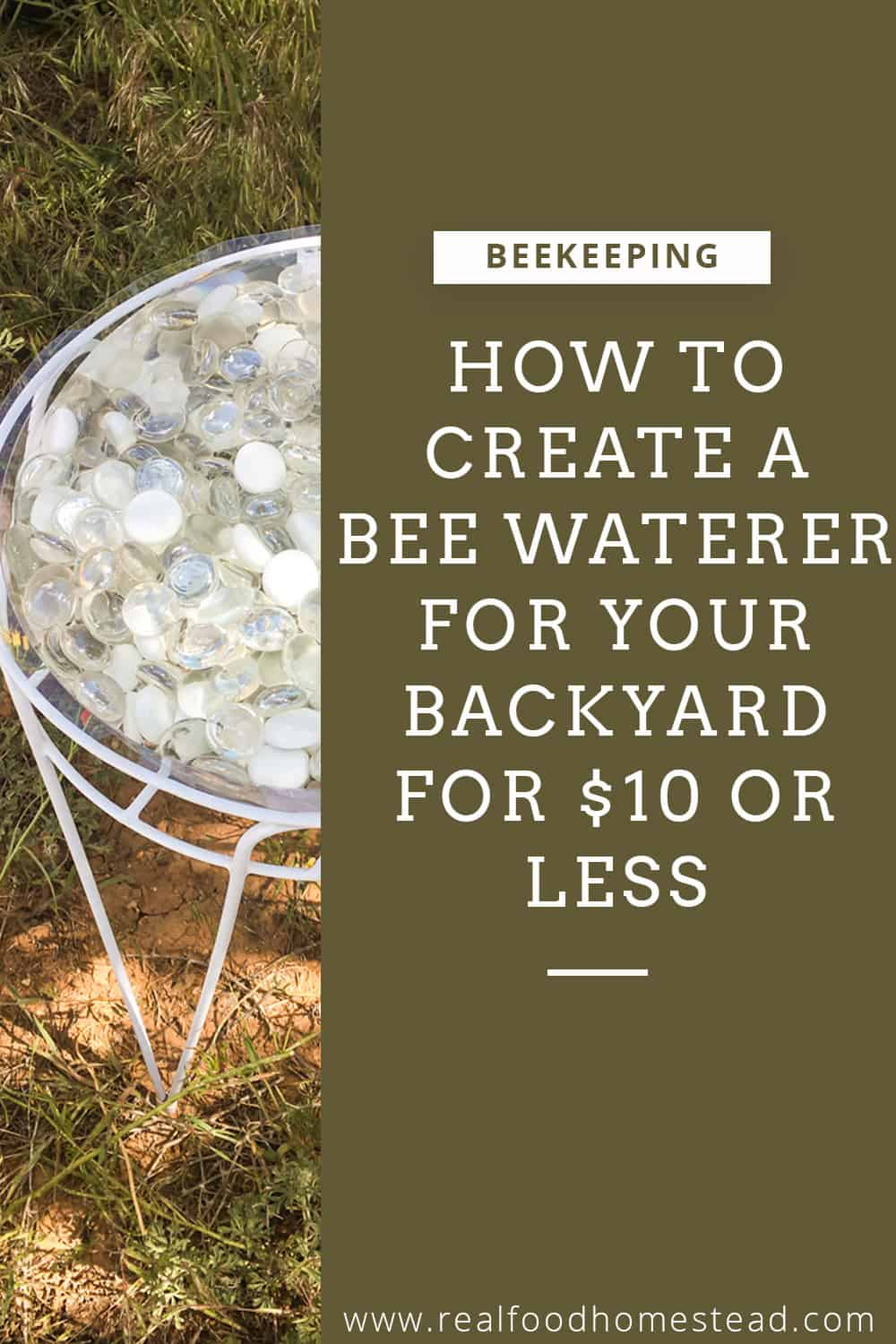bee waterer pin