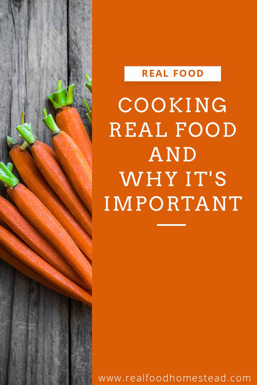 cooking real food pin