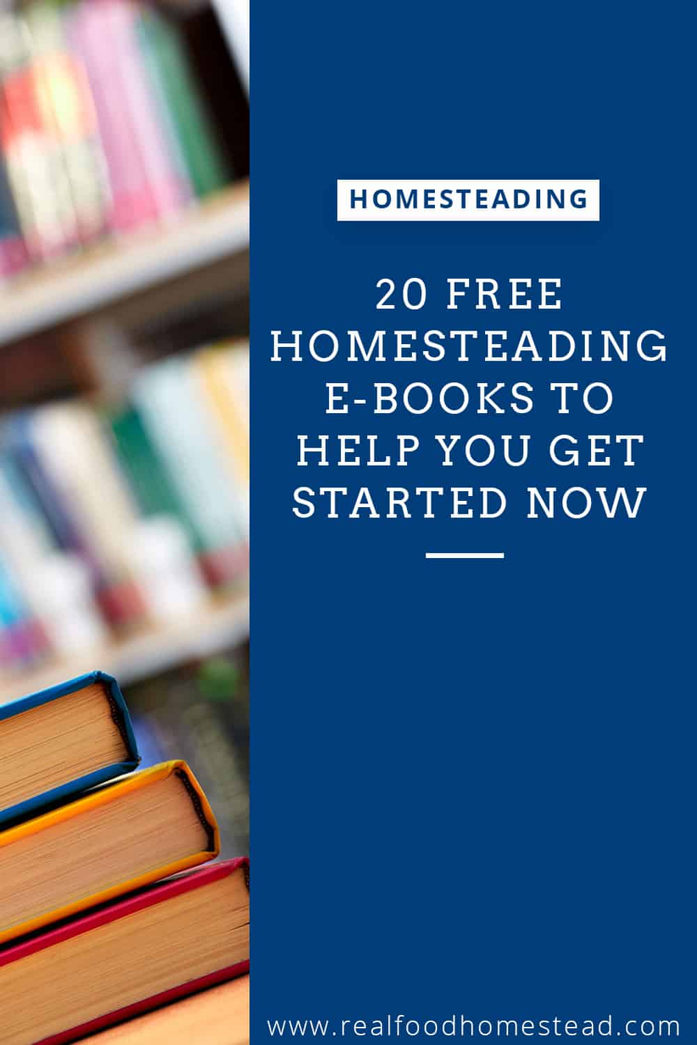 free homesteading books pin