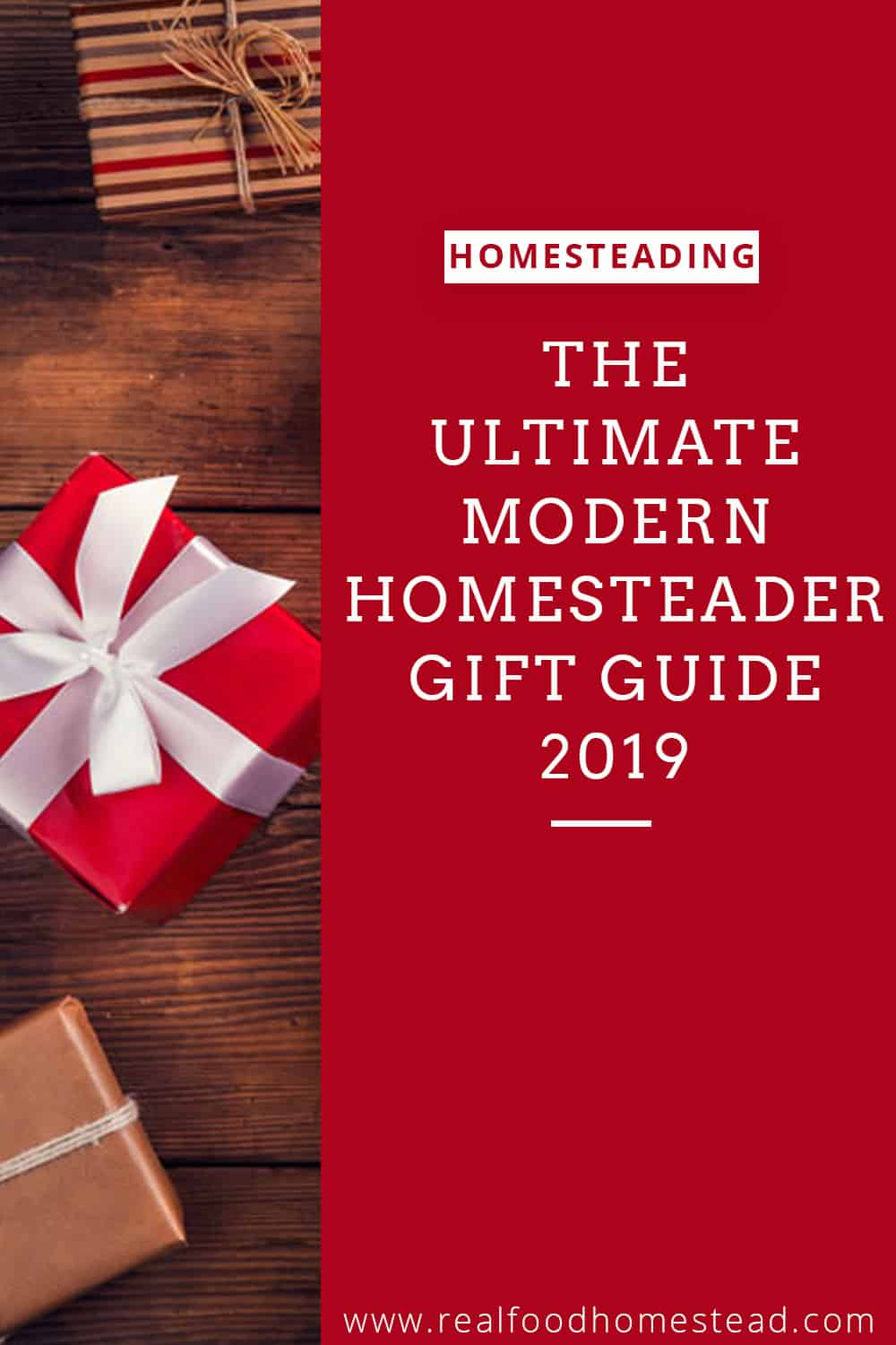 modern homesteader gift guide pin