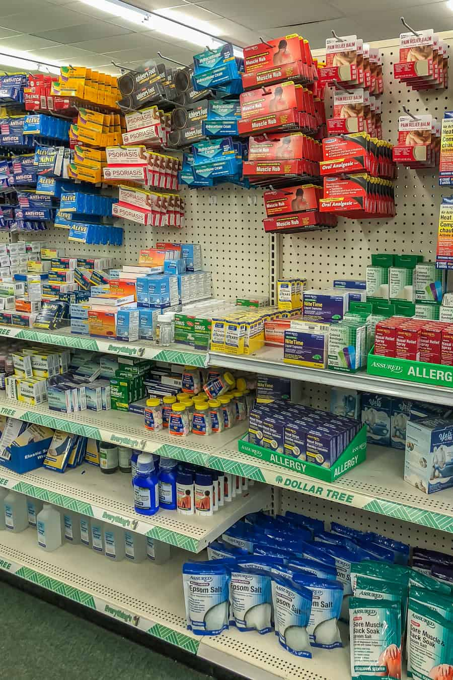 first aid supplies at the dollar store