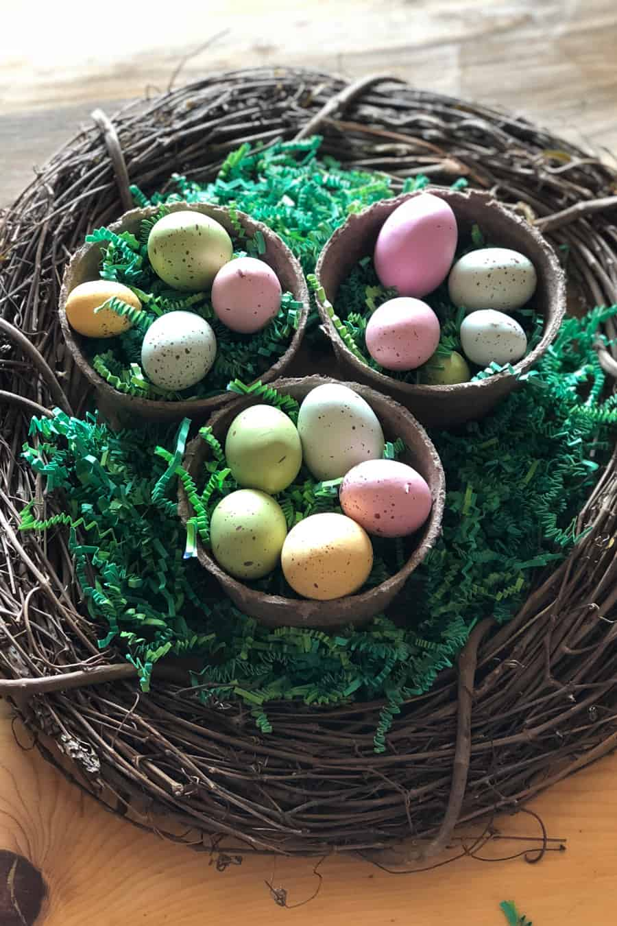 easter eggs as a table centerpiece