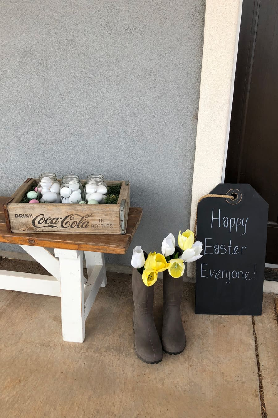 easter front porch decor