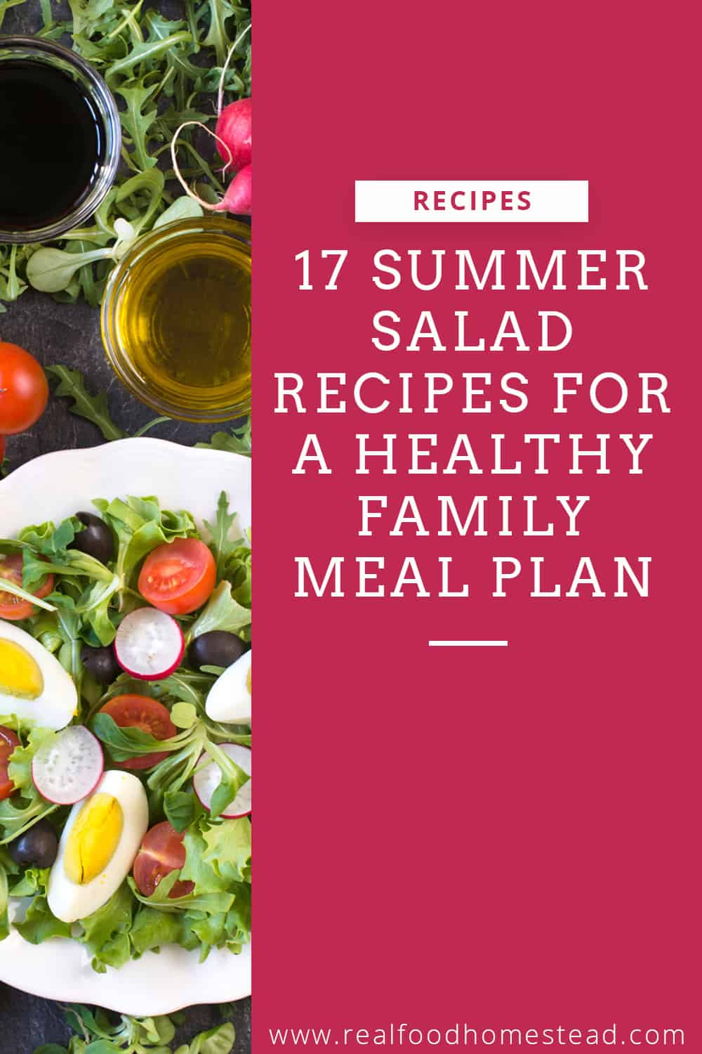 summer salad recipes pin