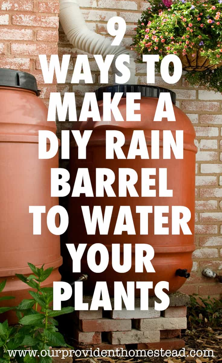 DIY rain barrel pin
