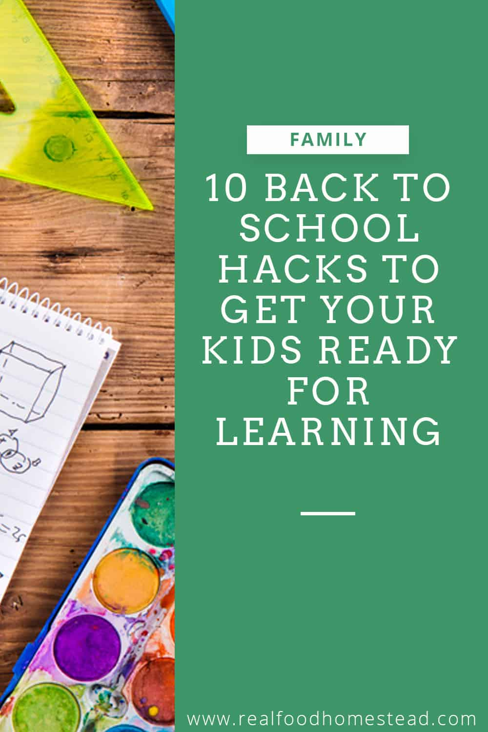 back to school hacks pin