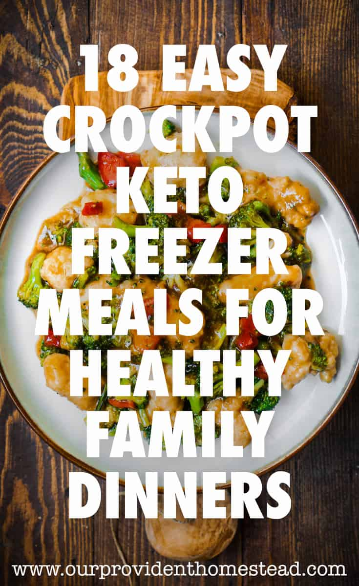 keto freezer meals pin