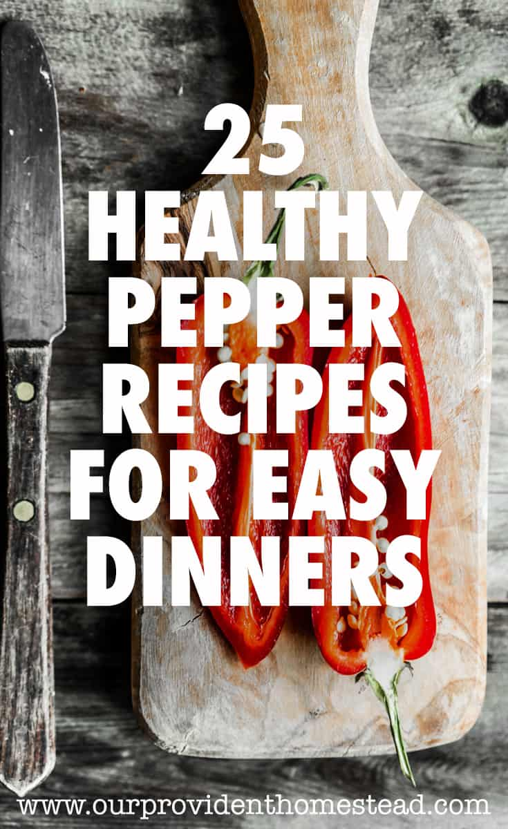 healthy pepper recipes pin