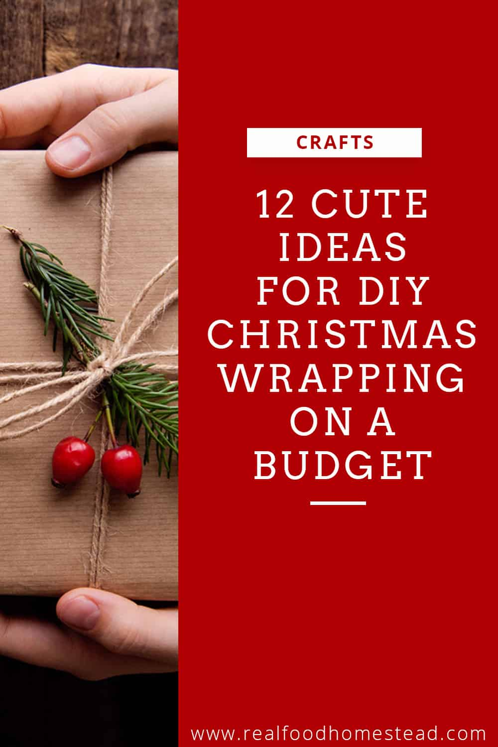 DIY Christmas wrapping pin