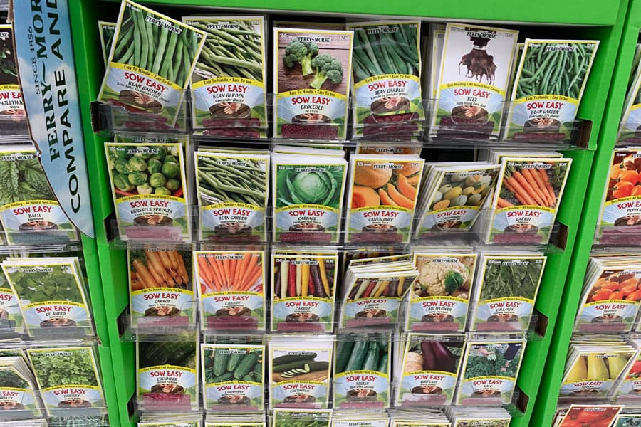 seeds at the grocery store