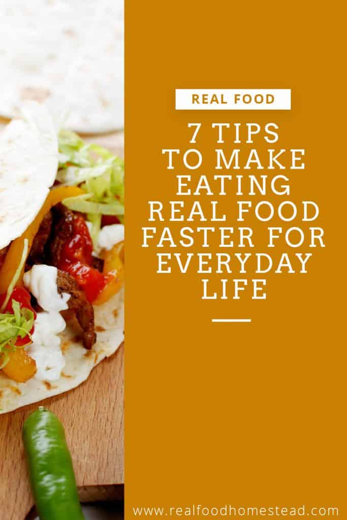 real food faster pin