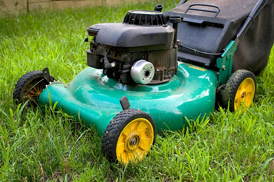 lawn mower in grass