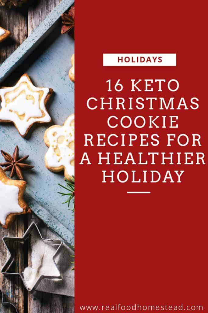 keto christmas cookie pin