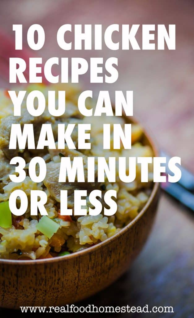30 minute chicken recipes pin