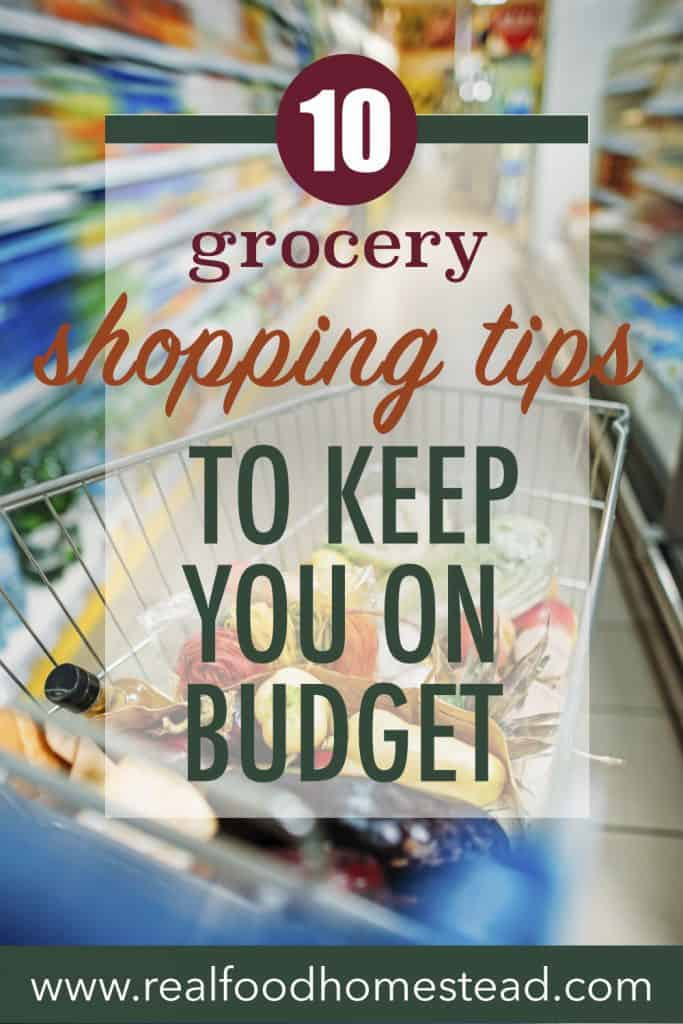 grocery shopping tips pin